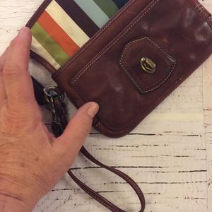 Coach Bags - Coach leather wristlet with brass Turn style lock